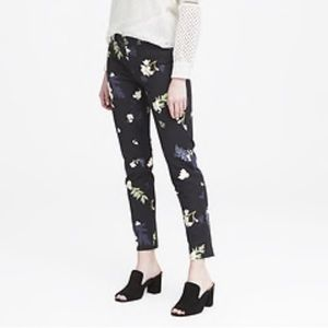 Sloan Skinny Fit Floral Petra Ankle Pants Black 4